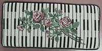Keyboard & Roses piano bench cushion
