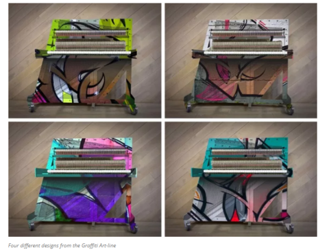 Klavins Una Corda Graffiti Artline piano - Piano World Piano