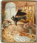 Blanket - Music Room with Grand Piano & Violin