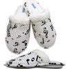 Ladies Slippers with Music Notes